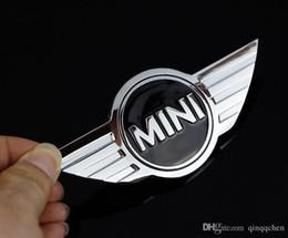 2019 adesivo mini emblema del bottaio 10Pcs / lot Mini Cooper Logo 3D Car Sticker emblemi metalliche per MINI distintivo dell'automobile anteriore logo con adesivo 3M per il car badge emblema Decoration