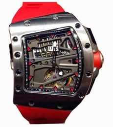 movimento orologio tourbillon Sconti RM70 Orologi orologio di lusso orologio movimento tourbillon ALAIN PROSTRM70-01 atleta bicicletta tourbillon, cassa in acciaio, gomma st