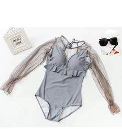DE Newest Design fotos One Piece Swimwear das mulheres moda Swim Dress cor cinza Plus Size Swimsuits Special Voltar de