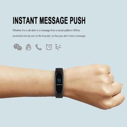 Inteligente Pulseira pedômetro Rastreador corrida Waterproof Sports Passo M4 Heart Rate Monitor Contra andando fitness Wrist Watch Band de