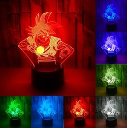 dragone ragazzo z Sconti Luminaria 3D Dragon Ball Z God Goku Super Saiyan Action Figures 3D Illusion 7 Color Gradient Lampada da tavolo 7 Color Night Light Ragazzi Child Gifts