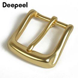 Deepeel Solid Brass Belt Buckle For Men Women Metal Pin Buckle Head For Belt 36 37mm DIY Leather Craft Jeans Accessories YK130