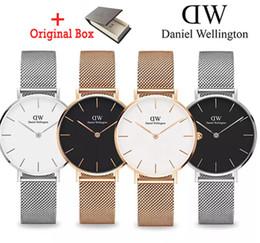 Марка роскошные женские часы водонепроницаемый розовое золото из  нержавеющей стали дамы Кварцевые наручные часы Daniel Wellington dw мода  кожаные часы ... cc2eadcce5ec9