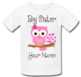 d906b81c52e65 Personnalisé Grande Sœur Filles Hibou Enfants Tee T-shirt T-shirt Top  nouveau cadeau de bébé Drôle livraison gratuite Unisexe Casual