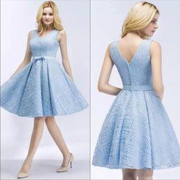Vestidos azul cielo cortos 2019