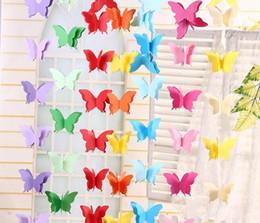 Telones de fondo de mariposa online-Papel de mariposa tirado de la flor decoración boda navidad fiesta telones fiesta de bienvenida al bebé fiesta de cumpleaños festival DIY decoración