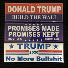 make car stickers Promo Codes - Car Stickers Decoration Trump Sticker Build The Wall Promises Made Promises Kept To More Accessories 2020 2 2jw F1