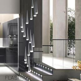 24 zoll rundes glas Rabatt Moderne led konische pendelleuchte aluminummetal home / industrielle beleuchtung hängen lampe ess- / wohnzimmer bar cafe droplight leuchte