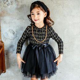 f41394278c4dcf Mädchen Herbst Winter Kleid Für Mädchen Weihnachten Hahnentritt Mädchen  Prinzessin Kleider Kinder Kleidung Kostüm Mädchen Casual Kinder Kleid  Y190515 auf ...
