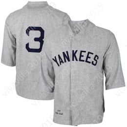 Babe ruth бейсбол джерси онлайн-3 Babe Ruth New York Jersey 12 Уэйд Боггс 23 Дон Маттингли 42 Мариано Ривера 51 Берни Уильямс Мужские янки Ретро-бейсбольные майки S-XXXL