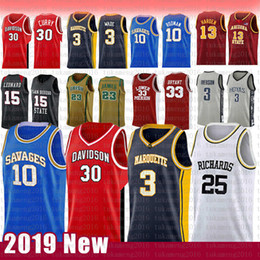 adler basketball jersey Rabatt 30 Stephen NCAA Curry Davidson Wildcats College Basketball Jersey 3 Dwyane 10 Dennis 25 Wade Rodman RICHARDS Marquette golden Eagles Trikots