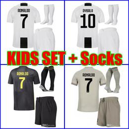 China Best Thailand 2019 RONALDO Juventus kids Soccer jersey 18 19 DYBALA  MATUIDI boys youth children b81025e31
