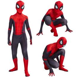 2019 meias de super herói Crianças Super hero Cosplay Traje romper Masquerade Natal Halloween Meninos Apertados Macacões dos desenhos animados Anime Vingadores bebê Roupas B11 meias de super herói barato