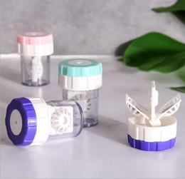 lentilles de contact Promotion 5 PCS Qualité Portable Nettoyant pour lentilles de contact Faire pivoter manuellement la machine à laver les lentilles intelligentes conteneur affaire lentille de contact partenaire pas cher en gros