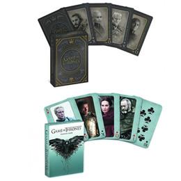 tronos do jogo cartão Desconto 3types Game of Thrones conjunto de pôquer cartão de jogo estágio foto canção de fogo e gelo jogando cartas produtos novidade conjuntos de pôquer presente cosplay