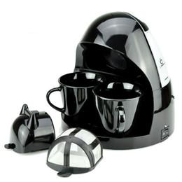 Té dos online-Tipo de goteo completamente automático American Coffee Machine Home Office Máquina de hacer té con dos tazas de cerámica 78nw Ww