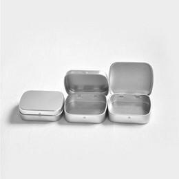 Weiße speicherdosen online-Mini Blechdose Geschenkbox Mint Metallbox Weiß Schwarz Silber Rechteck Plain Aufbewahrungsboxen W9293