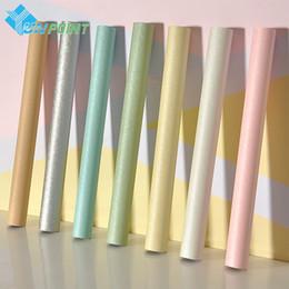 Selbstklebende Seide Textur Tapete PVC Wasserdicht Einfarbig Tapete Schlafzimmer Schlafsaal Modern Room Refurbished Wall Sticker von Fabrikanten