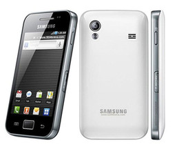 Gps gratis para teléfonos celulares online-Original desbloqueado Samsung Galaxy ACE S5830 S5830i teléfono celular 3G Wifi GPS 5MP cámara teléfono móvil envío gratis