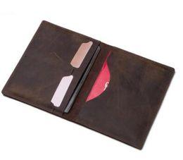 Владельцы паспортов онлайн-новый натуральная кожа обложка для паспорта Марка credt CARD holder мужчины бизнес путешествия владельца паспорта бумажник обложки для паспортов бумажник