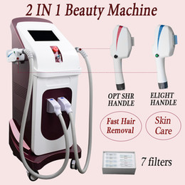 Máquina para eliminar el acné online-Máquina de eliminación de vello profesional shr Machine laser hair remove portátil OPT SHR Photon Beauty Instrument dos años de garantía