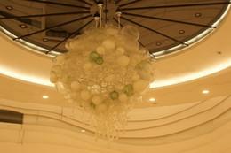 Lampadario a bracci lampada a soffitto online-Lampadario di design moderno in vetro soffiato a bolle in vetro borosilicato di Murano moderno per lampade da soffitto in cristallo per la casa