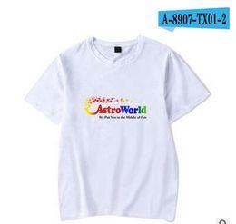 316e13d2af9d Astroworld Rapper Travis Scott Male Design T-shirt High Street Letter Print  Tees Tops Men Women Fashion Streetwear Tshirt
