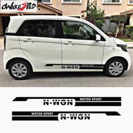 2019 decalques de vinil personalizados Para Honda N-WGN Car Styling Esporte Styling Decor Adesivos City Auto Lado Da Porta Personalizado Vinyl Decal Adesivo de Automóvel Espírito desconto decalques de vinil personalizados