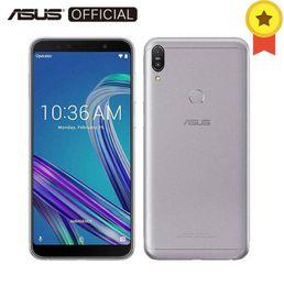 m1 teléfono móvil Rebajas Asus ZenFone Max Pro (M1) ZB602KL SnapDragon 636 Android 8.1 6GB 64GB 6 '18: 9 FHD + ID de cara 5000mAh Batería Teléfono móvil 3 ranuras