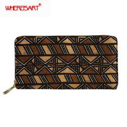 bbbaee2cc 2019 bolsas africanas WHEREISART Mulheres Carteiras Longo Embreagem Senhora Bolsas  Bolsas Femininas Sacos de Dinheiro Meninas