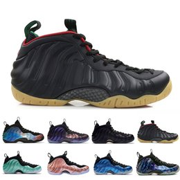 aa941394220 Penny Hardaway Foams One Olympic Denim Habanero Basketball Shoes Pro  Sequoia Eggplant Black Metallic Gold Men 2019 Authentic Sneakers Sports