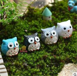 piccoli animali prodotti all'ingrosso Sconti Piccoli ornamenti di paesaggio gufi bonsai ornamento ornamenti di carne merci Mini ornamenti animali Nuovo prodotto all'ingrosso YT0094