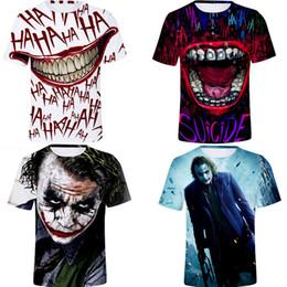 Clown freizeitkleidung online-Womens 3D Print T-Shirts Rundhalsausschnitt Kurzarm Mode-Stil Weibliche Kleidung Paar Clown Casual Apparel