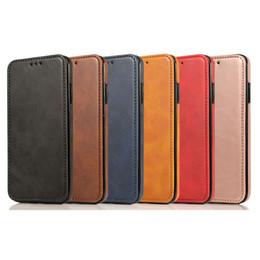 2020 caso della borsa di lusso di iphone Retro in pelle della cassa della borsa per IPhone 11 Pro X XR XS Max lusso Magneti carta del raccoglitore del supporto Cover per iPhone 8 7 Caso sconti caso della borsa di lusso di iphone