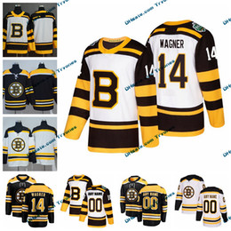 c1e13b1e1 2019 Winter Classic Boston Bruins Chris Wagner Mens Stitched Jerseys  Customize Home Black Shirts 14 Chris Wagner Hockey Jerseys S-XXXL