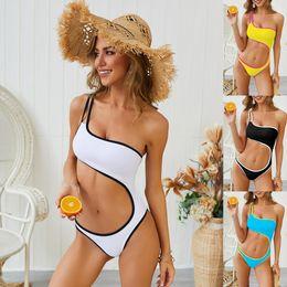 Canada Vêtements à la mode Nouveau Maillot de Bain Femmes Sexy Bikinis Été Une Épaule Mignon Taille Une Pièce Maillots De Bain Plage Bikini Mode Élégant Maillots De Bain cheap stylish swimwear Offre