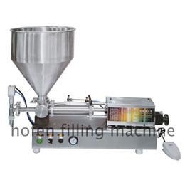 Crema di riempimento online-Macchina per il riempimento di paste da tavolo Macchina per il deposito e l'iniezione di macchine semi automatiche Crema cosmetica Shampoo Riempitrice a pistone