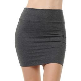 motifs de jupe évasée Promotion Mode féminine Mini-jupe taille haute été solide Taille Plus élastique Jupe crayon classique Femme Simple Sexy Jupes courtes # 1125