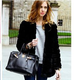 2019 плюс размер черного кролика 2019 Зимние женские пальто из искусственного меха кролика Искусственный мех лисы Средней длины сгущает пальто плюс размер XS 6XL 7XL черное пальто WT69 скидка плюс размер черного кролика