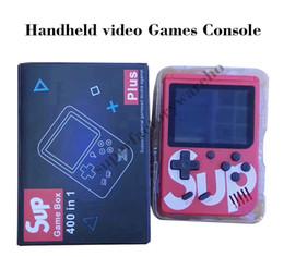 Console de vídeo portátil on-line-SUP Handheld Video game Console Portátil Retro 8 bit FC MODELO PARA FC 400 em 1 JOGOS AV Color Jogo Jogador Presente para as crianças do que PXP3 Notícias 1 PCS