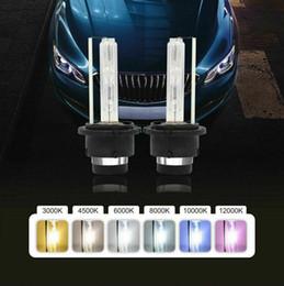 Lâmpadas de substituição de xenônio on-line-Substituição da lâmpada 2x 55W D2S D2R D2C 6000K Xenon HID farol do carro Luz OEM