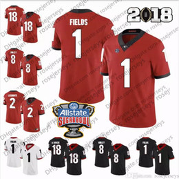 843aca7d0 NCAA Georgia Bulldogs  1 Brenton Cox Fields 18 Deandre Baker Isaac Nauta 2  Richard LeCounte III 3 Zamir White Rose Sugar Bowl Jerseys