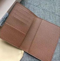 Excelente calidad NM damier grafito M60502 hombres mujeres carteras de cuero Real titular de la tarjeta monedero id billetera bolsas bifold Pasaporte # 852 desde fabricantes