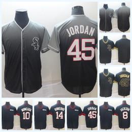 Jersey di konerko online-10 Yoan Moncada 2019 Golden Edition 8 Bo Jackson 14 Paul Konerko Michael 45 Jor dan White Sox Fade Jersey IN MAGAZZINO High Quailty