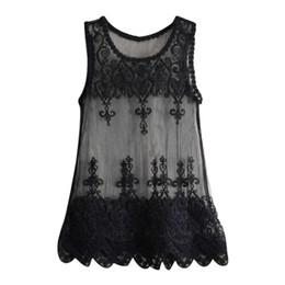 db5d25b724e Women Collar Bat Shirt Beach Sleeveless Blouse Cover-Up Loose Top blusas  Blouses For Women chemisiers et blouses femme dentelle