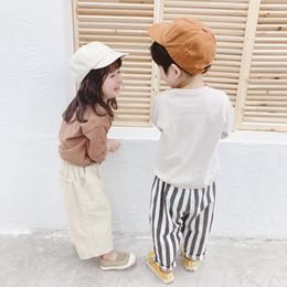 Argentina Cat19982019 primavera niños nuevos niños pantalones de pana ancha de nueve puntos de pana para niños y niñas Suministro