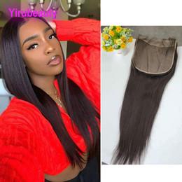 cierre de pelo grande Rebajas Cierre de encaje de pelo virgen de Malasia 8X8 Tamaño grande Onda de cuerpo recto 12-22 pulgadas Cierre de encaje de 8 por 8 con productos para el cabello del bebé