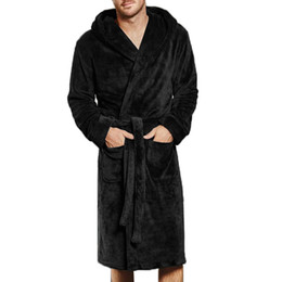 501f18875b Plus Size Autumn Thick Flannel Men S Bath Robes Gentlemen S Homewear Male  Sleepwear Lounges Robe Pajamas Pyjamas 4XL
