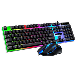2019 оконная клавиатура xp G21B проводной клавиатуры и мыши Комплект USB светящийся манипулятора клавиатура и мышь комплект