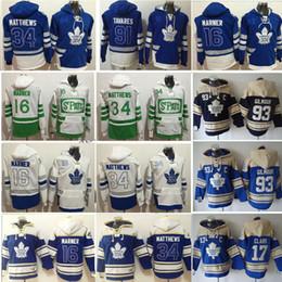 Canada Chandail à capuchon des Maple Leafs de Toronto - hiver Doug Gilmour Wendel Clark 91 John Tavares 34 Auston Matthews 16 Mitchell Marner 29 Maillot William Nylander supplier auston matthews hoodie Offre